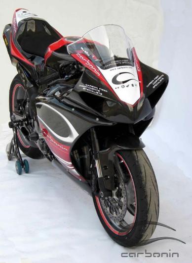 Carbon fibre sbk fairing 7 pcs with 12 dzus 2009 for Yamaha r1 carbon fiber parts